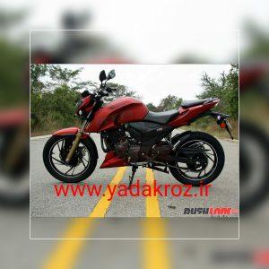 موتور سیکلت جدید از محصولاتtvs هندوستان آپاچی ۲۰۰ سی سی رنگ زرشکی مات مخملی