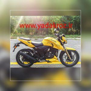 موتور سیکلت آپاچی ۹۶جدید ۲۰۰سی سی رنگ زرد